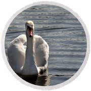 Not Another Swan Round Beach Towel