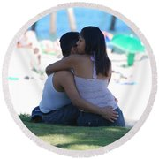 Not Married Round Beach Towel