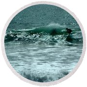 Not Now, Wave Round Beach Towel