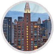Not The Chrysler Building Nyc Round Beach Towel