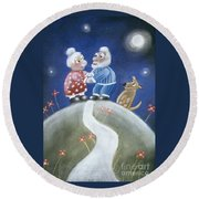 Not Yet Over The Hill Round Beach Towel