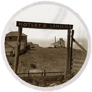 Notleys Landing Big Sur Coast By L. S. Slevin  May 1919 Round Beach Towel