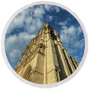 Notre Dame Angles In Color - Paris, France Round Beach Towel