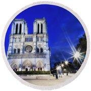 Notre Dame Cathedral Paris 4 Round Beach Towel