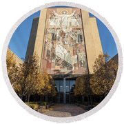Notre Dame Library 2 Round Beach Towel