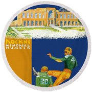 Notre Dame Versus Minnesota 1938 Program Round Beach Towel