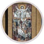 Notre Dame's Touchdown Jesus Round Beach Towel