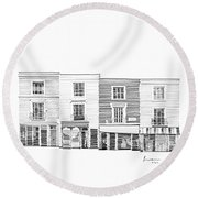 Notting Hill London City Scene Round Beach Towel