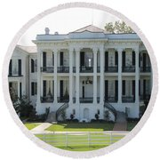 Nottoway Plantation Round Beach Towel