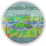Nouvelle-france Mug Shot Round Beach Towel