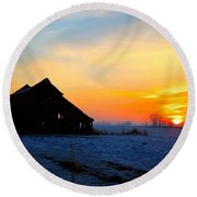 November Barn 2 Round Beach Towel