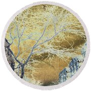 November In The Heights Round Beach Towel