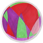 Now In Abstract Text Art Round Beach Towel
