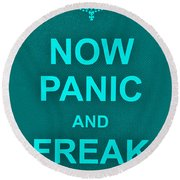 Now Panic 12 Round Beach Towel