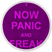 Now Panic 14 Round Beach Towel