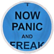 Now Panic 21 Round Beach Towel