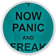 Now Panic 26 Round Beach Towel