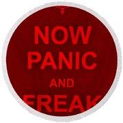 Now Panic 9 Round Beach Towel