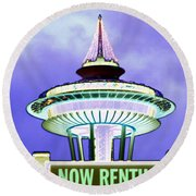 Now Renting Round Beach Towel