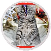 Now Where Did That Ornament Go I Just Saw It A Second Ago Round Beach Towel