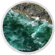 Nowhere To Go Cliffs Of Moher Ireland Round Beach Towel