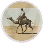 Noyes, Edward , Riding Camel Round Beach Towel