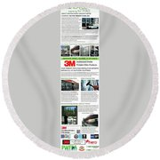 Nu-vue Window Films Infographics Round Beach Towel