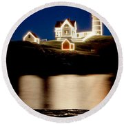 Nubble Stars Round Beach Towel
