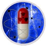 Nuclear Medicine Round Beach Towel