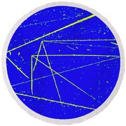 Nuclear Particle Tracks Round Beach Towel