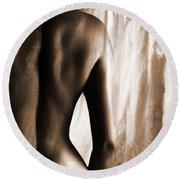 Nude 028r Round Beach Towel