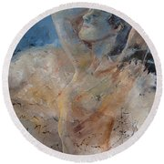 Nude 0508 Round Beach Towel