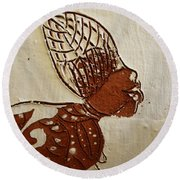 Nude 11 - Tile Round Beach Towel