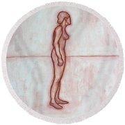 Nude 11 Round Beach Towel by Patrick J Murphy