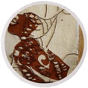 Nude 12 - Tile Round Beach Towel