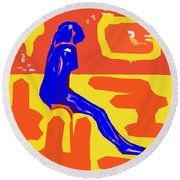 Nude 16 Round Beach Towel