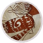 Nude 3 - Tile Round Beach Towel
