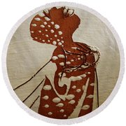 Nude 4 - Tile Round Beach Towel