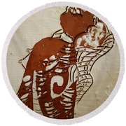 Nude 9 - Tile Round Beach Towel