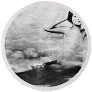 Nude As Mermaid, 1890s Round Beach Towel