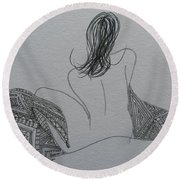 Nude II Round Beach Towel