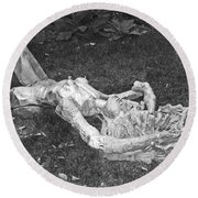 Nude In The Park Round Beach Towel