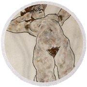 Nude Lying Down Round Beach Towel