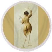Nude. Queen Rodophe Round Beach Towel
