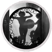 Nude Shadow, 1920s Round Beach Towel