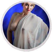 Nude Woman Model 1722  006.1722 Round Beach Towel