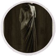 Nude Young Woman 1718.500 Round Beach Towel