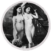Nudes At Festival, C1900 Round Beach Towel