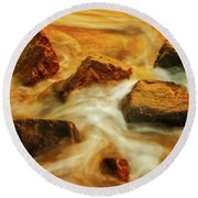 Nuggets Of Gold Round Beach Towel by Rick Furmanek