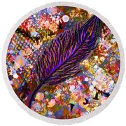 Nujabes' Feather Round Beach Towel